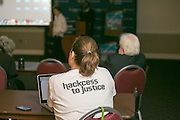 """This is the """"Hackness to Justice 2014 Hackathon"""" session at the 2014 annual meeting of the American Bar Association in Boston at Suffolk University Law School.  photo by Kathy Anderson"""