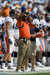 Virginia defensive coordinator Mike London...The North Carolina Tar Heels football team faced the Virginia Cavaliers at Kenan Memorial Stadium in Chapel Hill, NC on September 15, 2007.  UVA defeated UNC 22-20.