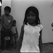 Most children on the reservation speak primarily Spanish.  Many study English and know only a few words of their native language.  Anglo names such as Jonathan, Marjorie and Walter are common, as is North Ameican clothing donated by missionaries.  Local cultural groups have tried to keep traditional forms of dance and clothing alive amidst cultural change.