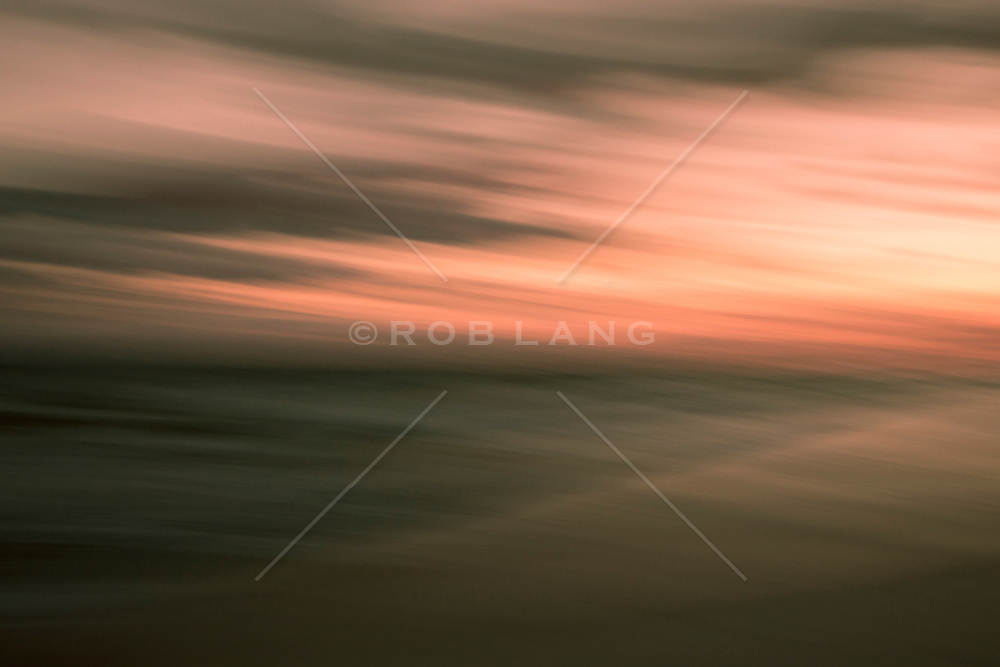 Abstract of the ocean and sky at sunset in East Hampton, NY