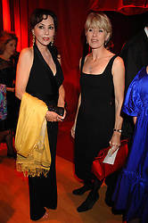 Left to right, MARIE HELVIN and SELINA SCOTT at a dinner held at the Natural History Museum to celebrate the re-opening of their store at 175-177 New Bond Street, London on 17th October 2007.<br />
