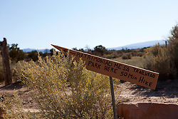 handwritten trail sign in Abiquiu, New Mexico