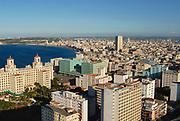 HAVANA, CUBA - OCTOBER 21, 2006: Aerial view of the Havana city in Havana, Cuba.
