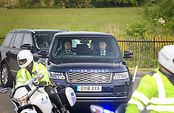 © Licensed to London News Pictures. 18/05/2018. London, UK. PRINCE HARRY AND MEGHAN MARKEL ARRIVE AT WINDSOR CASTLE FOR LUNCH WITH THE QUEEN. Prince Harry and Meghan Markle are to be married tomorrow (Saturday) at St George's Chapel in Windsor. Photo credit: Ben Cawthra/LNP
