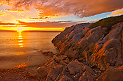 Chedabucto Bay at sunset, Fox Island, Nova Scotia, Canada
