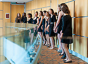 Columbia High School girls A Cappella group performing at the SOPAC 2015 Gala.