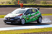 Race Winner Jack Young(GBR) at Leslies during Round 14 of the Renault UK Clio Cup at Knockhill Racing Circuit, Dunfermline, Scotland on 15 September 2019.