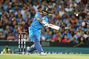 Shikhar Dhawan hits out. T20 international, Australia v India. Sydney Cricket Ground, NSW, Australia, 25 November 2018. Copyright Image: David Neilson / www.photosport.nz
