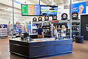 ROGERS, AR - OCTOBER 12:  Associate Styler Brown makes a key for Brenda Stout and Janice Parsley at the Walmart's Auto Care Center at Walmart Store #4208 on October 12, 2015 in Rogers, Arkansas.  <br /> CREDIT Wesley Hitt for Wall Street Journal<br /> WALSQUEEZE