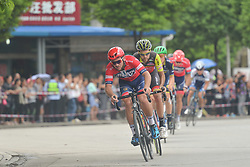 September 20, 2017 - Changde, China - A breakaway group of riders during the second stage of the 2017 Tour of China 2, the 97.6km Changde Lixiang Circuit Race. .On Wednesday, 20 September 2017, in Lixian County, Changde City, Hunan Province, China. (Credit Image: © Artur Widak/NurPhoto via ZUMA Press)