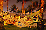 Woman in hammock, Hawaii<br />