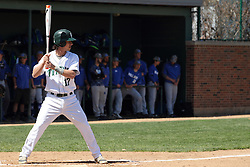 11 April 2015:  Gino Cavalieri during an NCAA division 3 College Conference of Illinois and Wisconsin (CCIW) Pay in Baseball game during the Conference Championship series between the Millikin Big Blue and the Illinois Wesleyan Titans at Jack Horenberger Stadium, Bloomington IL