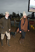 HARRISON BESWICK; GEORGINA CANNON,  DOG: FLOSSIE, The Heythrop Hunt Point to Point. Cocklebarrow. 24 January 2016