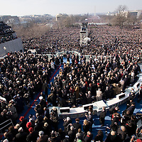 Barack Obama arrives for his inauguration as the 44th President of the United States of America. US Capitol, Washington, DC. 1/20/09. Photo by Lisa Quinones/Black Star.