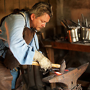 Pounding out metal on an anvil, working a tried & true method.