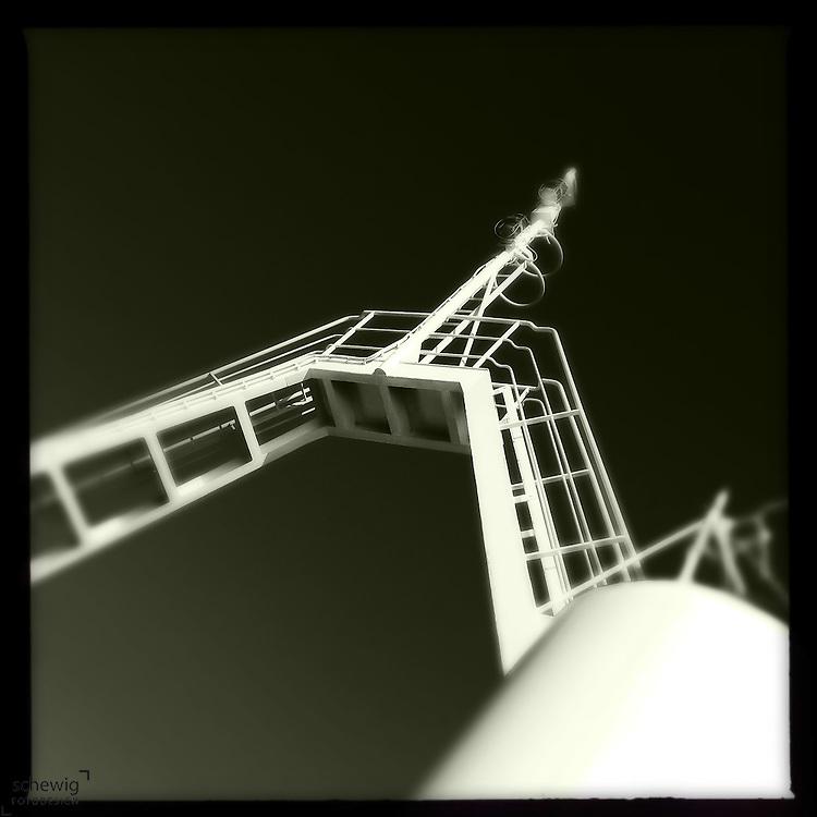 Mast am Faehrschiff, Kroatien