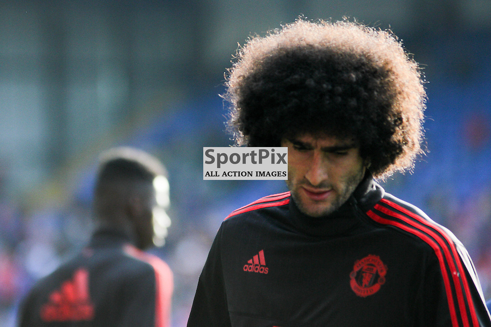 Marouane Fellaini before Crystal Palace vs Manchester United on Saturday the 31st October 2015.