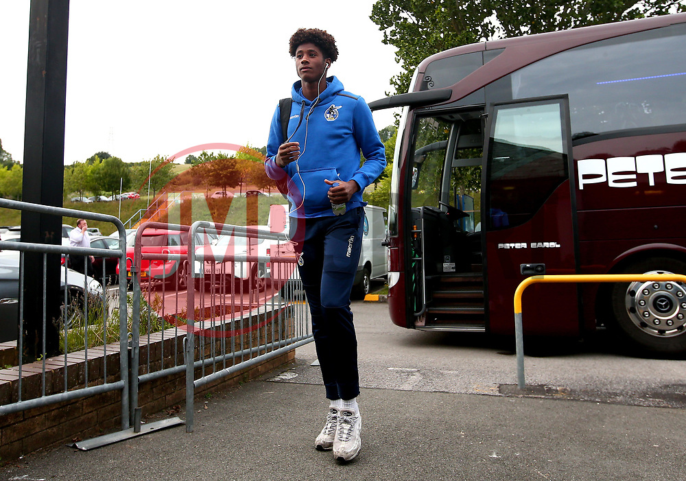 Alexis Andre Junior of Bristol Rovers arrives at Adam's Park for the Checkatrade Trophy Match against Wycombe Wanderers - Mandatory by-line: Robbie Stephenson/JMP - 29/08/2017 - FOOTBALL - Adam's Park - High Wycombe, England - Wycombe Wanderers v Bristol Rovers - Checkatrade Trophy