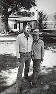 Ronald and Nancy Reagan in front of their home  Ranch Cielo near Santa Barbara California, in  June 1976....Photo by Dennis Brack Bs b 16