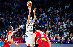 Luka Doncic of Slovenia during the Final basketball match between National Teams  Slovenia and Serbia at Day 18 of the FIBA EuroBasket 2017 at Sinan Erdem Dome in Istanbul, Turkey on September 17, 2017. Photo by Vid Ponikvar / Sportida