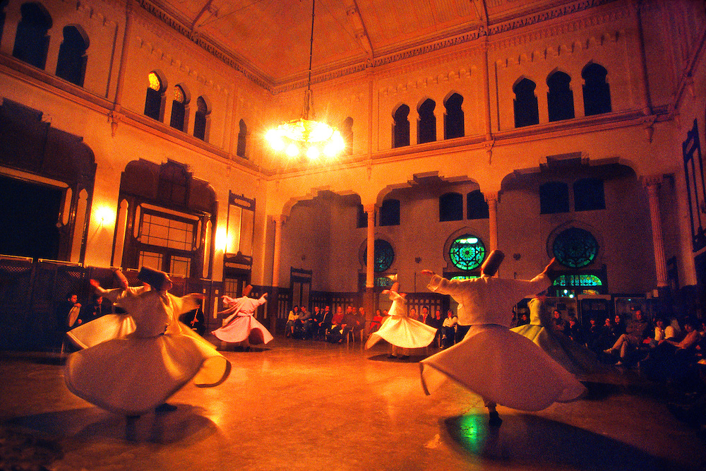 Mevlana (Whirling Dervishes perform Sema), Sirkeci Central Train Station, Istanbul, Turkey