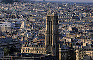 France. paris elevated view. Paris skyline view from Saint Sulpice Bell's tower