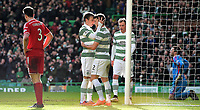01/03/15 SCOTTISH PREMIERSHIP<br /> CELTIC v ABERDEEN<br /> CELTIC PARK - GLASGOW<br /> Celtic's Stefan Johansen celebrates his goal with team-mate Adam Matthews (2)