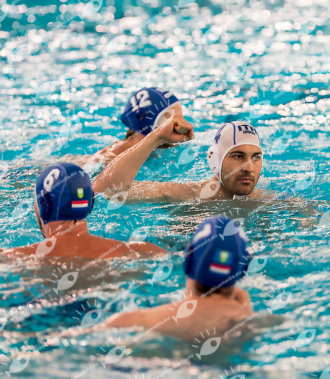4 Pietro FIGLIOLI ITA<br /> FINA Men's Water Polo Olympic Games Qualifications Tournament 2016<br /> Italy ITA (White) Vs Netherland NED (Blue)<br /> Trieste, Italy - Swimming pool Bruno Bianchi<br /> Day 4  06-04-2016<br /> Photo G.Scala/Insidefoto/Deepbluemedia