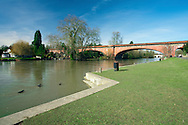 Railway bridge over the River Thames at Maidenhead, Berkshire, Uk