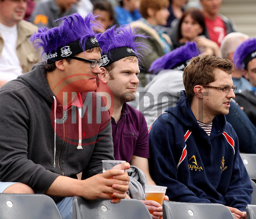 Fans wait for Gloucestershire and Sussex to begin - Photo mandatory by-line: Robbie Stephenson/JMP - Mobile: 07966 386802 - 26/06/2015 - SPORT - Cricket - Bristol - The County Ground - Gloucestershire v Sussex - Natwest T20 Blast