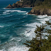 Heceta Head lighthouse fromCape Creek . Florence, Oregon