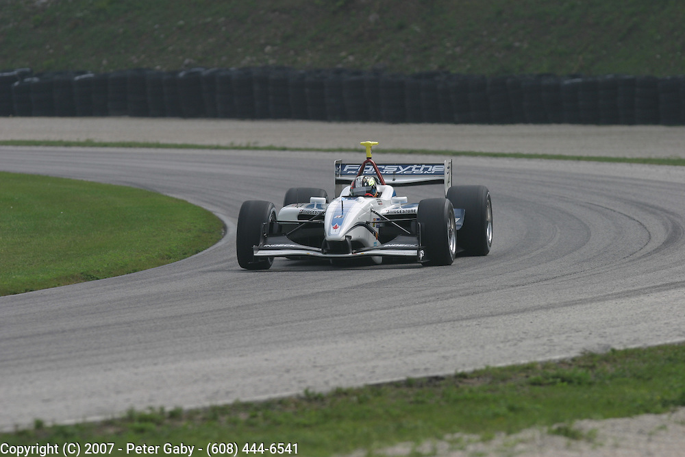 Oriol Servia during testing at the Generac Grand Prix on Fri.Aug. 10th, 2007 at Road America in Elkhart Lake, Wi.