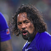 Seilala Mapusua, Samoa, during the South Africa V Samoa, Pool D match during the IRB Rugby World Cup tournament. North Harbour Stadium, Auckland, New Zealand, 30th September 2011. Photo Tim Clayton...