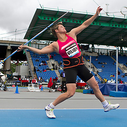 adidas Grand Prix Diamond League professional track & field meet: womens javelin throw, Sunette VILJOEN, SOuth Africa