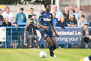 Leeds United Nohan Kenneh (21) in action during the Pre-Season Friendly match between Guiseley  and Leeds United at Nethermoor Park, Guiseley, United Kingdom on 11 July 2019.