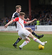 Ross County&rsquo;s Jonathan Franks and Dundee&rsquo;s Kevin Holt - Dundee v Ross County - Ladbrokes Premiership at Dens Park<br /> <br />  - &copy; David Young - www.davidyoungphoto.co.uk - email: davidyoungphoto@gmail.com