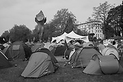 Camping Marble Arch, Extinction Rebellion, London 23 April  2019