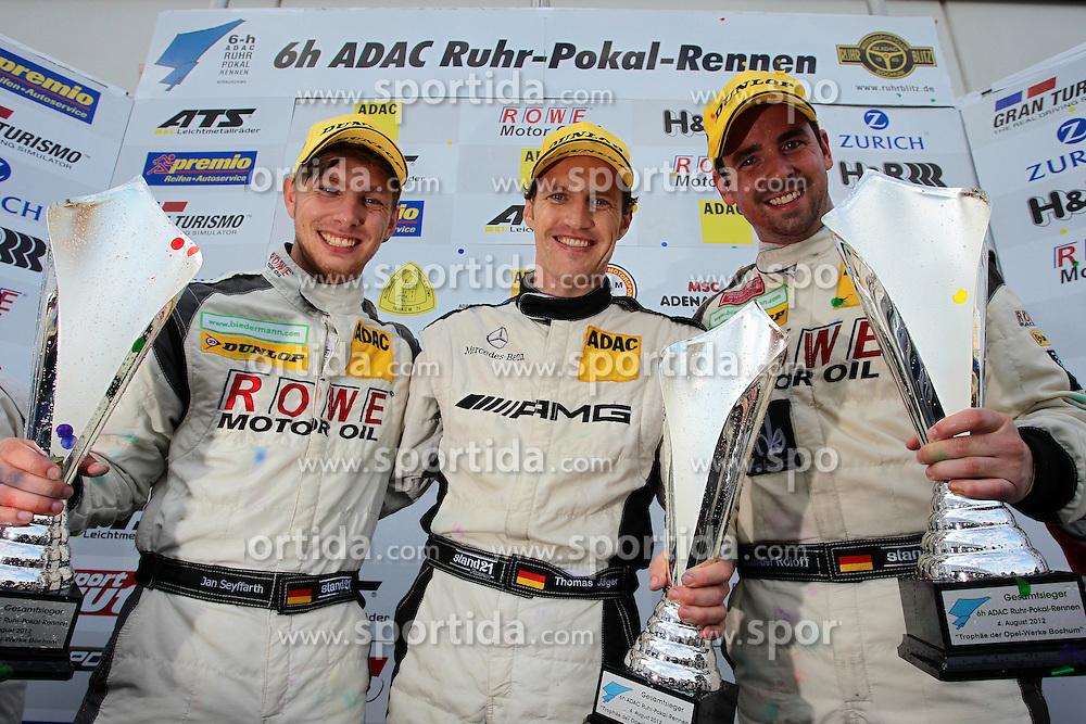 Motorsports: VLN Langstreckenmeisterschaft Nuerburgring 2012, 6h ADAC Ruhr-Pokal-Rennen, Gesamtsieger: Jan Seyffarth, Thomas Jaeger, Alexander Roloff (Mercedes-Benz SLS AMG GT3) *** Local Caption *** © pixathlon