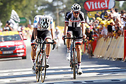 Tom Dumoulin (NED - Team Sunweb) - Soren Kragh Andersen (DEN - Team Sunweb) during the 105th Tour de France 2018, Stage 6, Brest - Mur de Bretagne Guerledan (181km) in France on July 12th, 2018 - Photo Luca Bettini / BettiniPhoto / ProSportsImages / DPPI