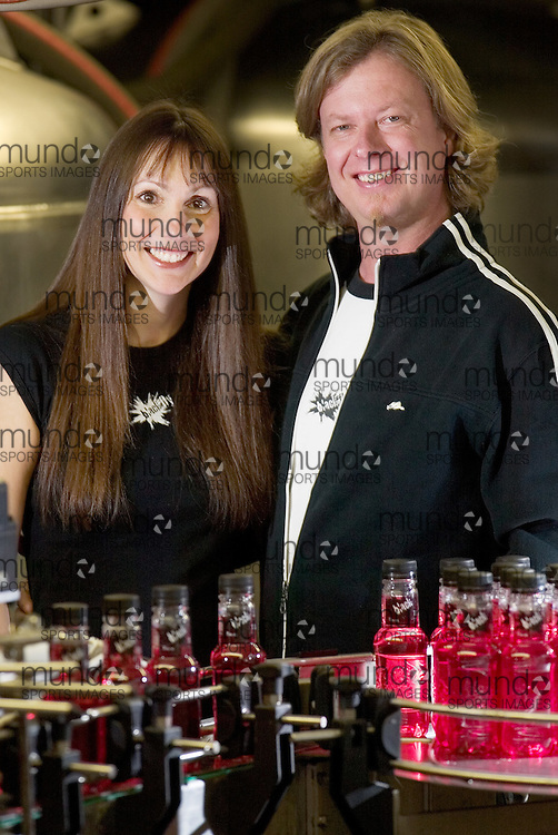 London: December 22, 2006 -CATHY SISKIND-KELLY - Cathy Siskind-Kelly and her husband Rob Kelly started Blackfly Beverage Co. in downtown London in May 2005.  Their unique Vodka coolers are now distributed in 450 LCBO stores across Ontario..Photo by GEOFF ROBINS for National Post.(For Roynat Entrepreneur story by ?, Joint Ventures)<br />