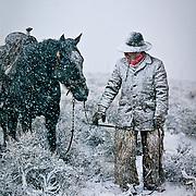 &ldquo;Winter&rsquo;s Chill&rdquo; <br /> Brett Reeder <br /> Lost River Range, Mackay, Idaho, 1987<br /> Cowboy Gear, book                                              30 x 40