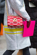 Louis Vuitton Bag, Outside Schiaparelli Couture