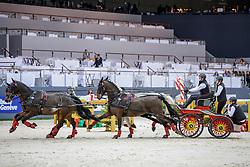HARM Mareike (GER), El Chico, Luxus Boy, Quebec Sautreuil, Zazou<br /> Genf - CHI Geneve Rolex Grand Slam 2019<br /> Prix Brasserie Egger<br /> FEI World Cup Vierspänner<br /> Pre-qualification for the FEI World Cup™ Driving<br /> 14. Dezember 2019<br /> © www.sportfotos-lafrentz.de/Stefan Lafrentz