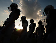 Pennridge players are silhouetted as the enter the field before the Pennridge at Neshaminy football game Friday, August 30, 2019 at Harry Frank Stadium in Langhorne, Pennsylvania. (WILLIAM THOMAS CAIN/PHOTOJOURNALIST)