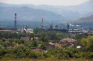 Viggiano, 13/06/2015: vista della zona Le Vigne e dell' ENI Centro Olio - ENI Energy company Oil Center