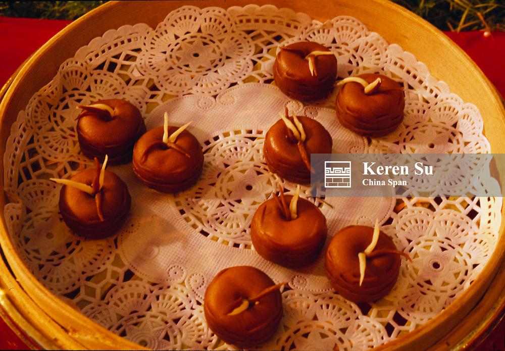 Dumplings made in animal shape, Xian, Shaanxi Province, China