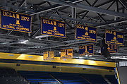 Nov 15, 2017; Los Angeles, CA, USA; General overall view of NCAA Championship banners from 1969, 1970, 1971 and 1972 won by the UCLA Bruins on display during a NCAA basketball against the Central Arkansas Bears at Pauley Pavilion.