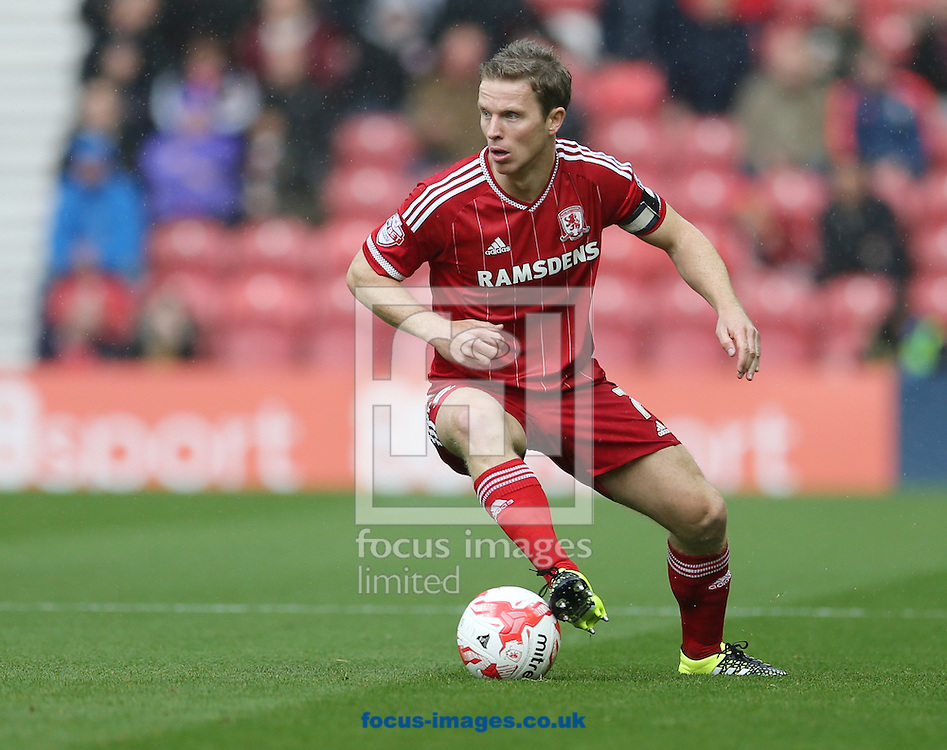 Grant Leadbitter of Middlesbrough during the Sky Bet Championship match at the Riverside Stadium, Middlesbrough<br /> Picture by Simon Moore/Focus Images Ltd 07807 671782<br /> 12/09/2015