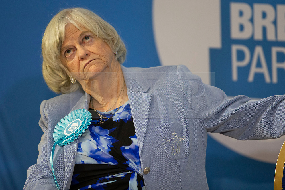 © Licensed to London News Pictures. 06/12/2019. London, UK. Brexit Party MEP Anne Widdecombe announces her party's defence and veterans policy at a press conference in Westminster . Photo credit: George Cracknell Wright/LNP