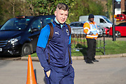 AFC Wimbledon midfielder Max Sanders (23) arriving for the game during the EFL Sky Bet League 1 match between AFC Wimbledon and Peterborough United at the Cherry Red Records Stadium, Kingston, England on 18 January 2020.